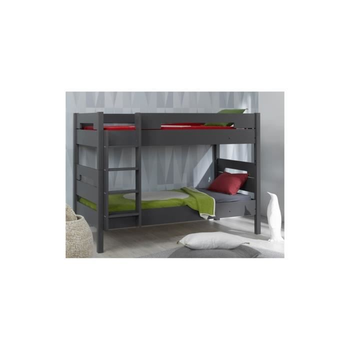 lit superpos enfant milo 90x190 achat vente lits. Black Bedroom Furniture Sets. Home Design Ideas