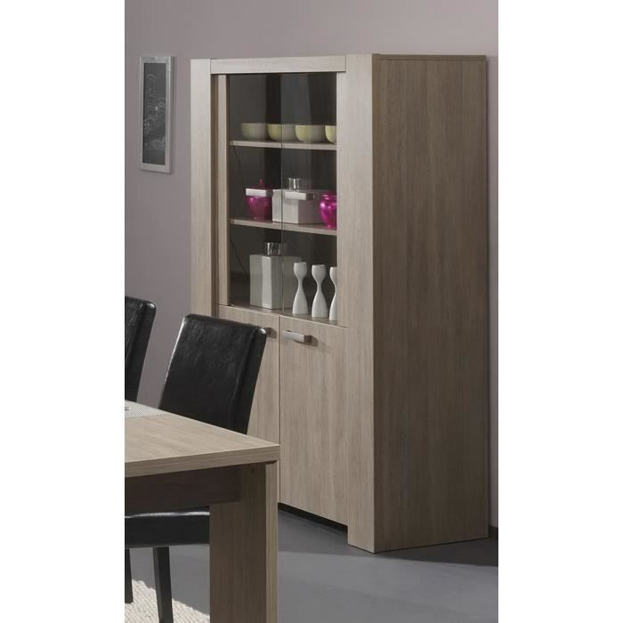 vaisselier contemporain coloris ch ne rustique achat. Black Bedroom Furniture Sets. Home Design Ideas