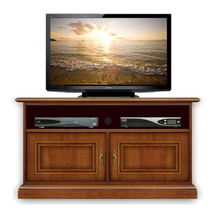 meuble tv barre de son 2 portes achat vente meuble tv meuble tv barre de son cdiscount. Black Bedroom Furniture Sets. Home Design Ideas