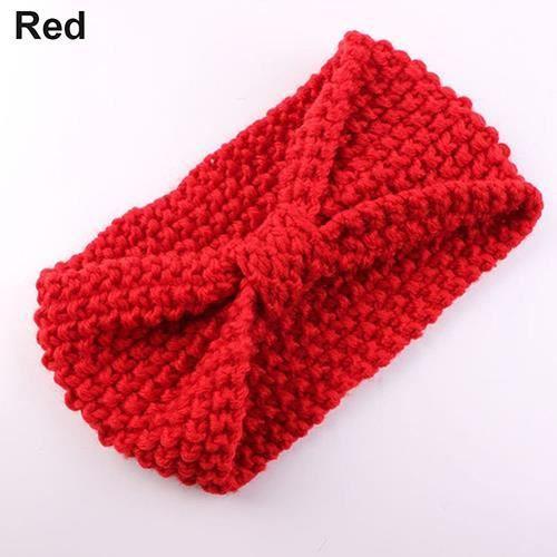 Crochet de bébé bandeau rouge