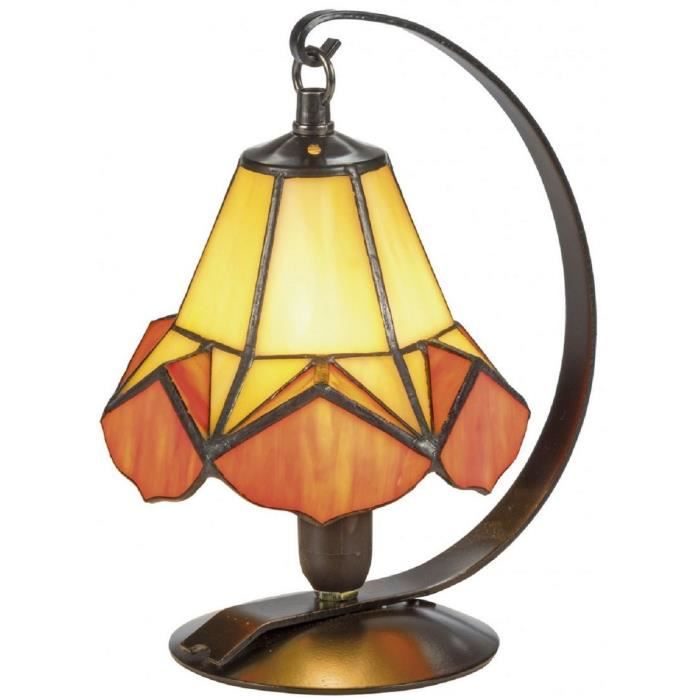Cm Ø Padrino Jaune De Table Tiffany Orange Casa X H23 Lampe 15 vmN8nO0wPy