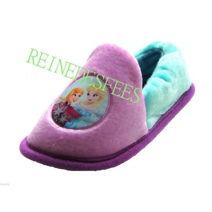 pantoufles enfants frozen chaussons filles la reine des neiges 22 23 disney elsa et anna mauve. Black Bedroom Furniture Sets. Home Design Ideas