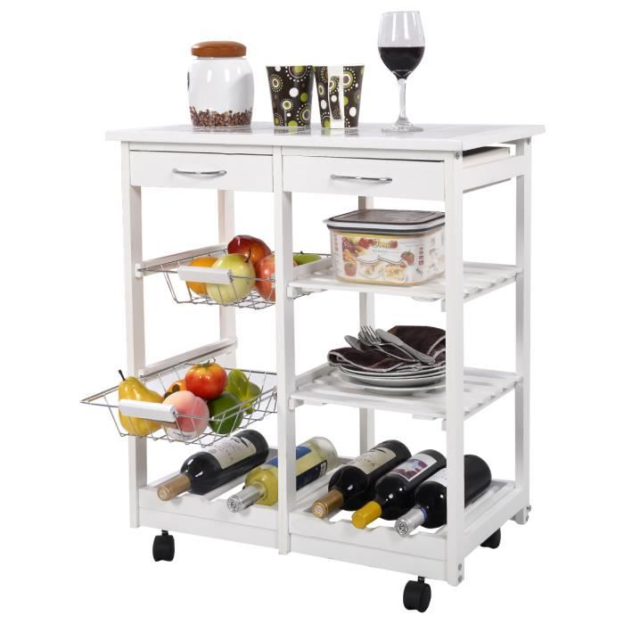 Tagre roulettes simple amnagement intrieur de meuble de for Table etagere cuisine