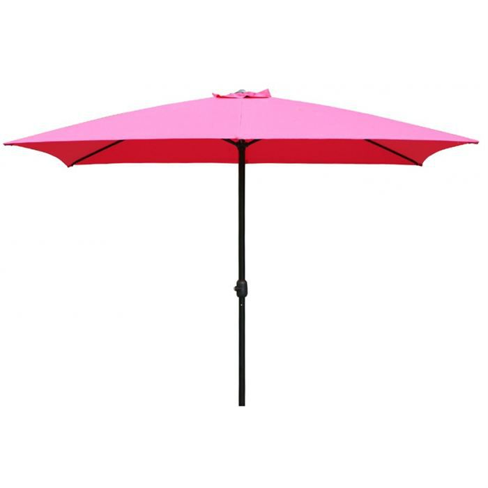 parasol rectangulaire hesperide framboise achat. Black Bedroom Furniture Sets. Home Design Ideas