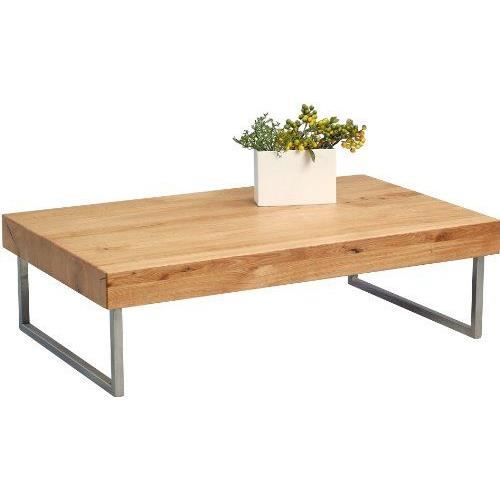 Hometrends4you 265822 Table Basse En Chene Massif Huile 120 X 35 X 75 Cm