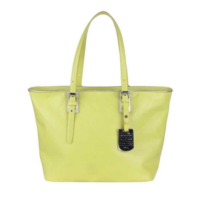 longchamp sac main femme port paule couleur citron achat vente longchamp sac. Black Bedroom Furniture Sets. Home Design Ideas