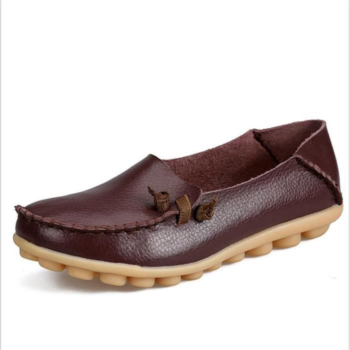 Moccasin femme 2017 ete cuir Plus Taille 34-44 bwdsbex