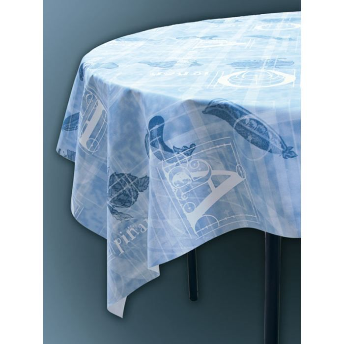 toile ciree au metre legumes bleu largeur 140 cm achat vente nappe de table cdiscount. Black Bedroom Furniture Sets. Home Design Ideas