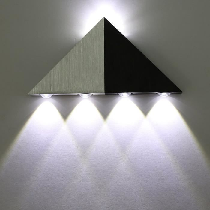 applique murale moderne led triangle eclairage d coratif 5w lampe murale en aluminium pour. Black Bedroom Furniture Sets. Home Design Ideas