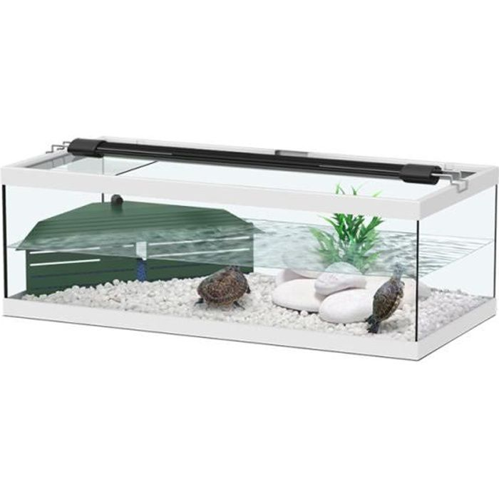 aquarium tortum blanc pour tortue avec filtre achat vente vivarium terrarium aquarium. Black Bedroom Furniture Sets. Home Design Ideas