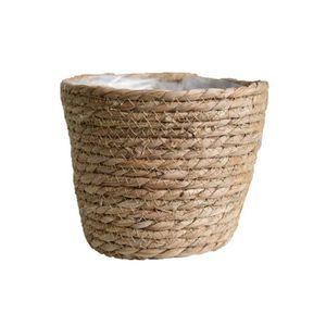 Zdan.uu Tissu /À La Main Pliable Plante Pot De Fleurs Panier /À Linge Panier De Rangement Jouet avec Poign/ée Size 22 x 20 cm A