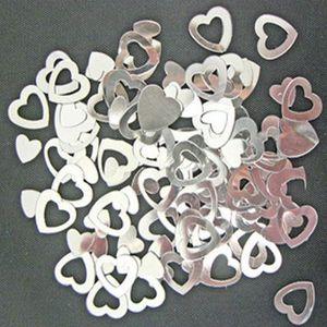 Plus de 300 Rose Pâle /& Noir Coeurs 2 tailles différentes-Table Confettis Mariage