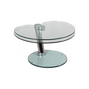 table basse en verre pivotante achat vente table basse en verre pivotante pas cher cdiscount. Black Bedroom Furniture Sets. Home Design Ideas