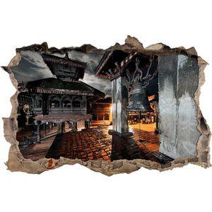 Monastère Japon-percée dans 3d-Look décoration tapisserie