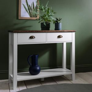 CONSOLE CHATSWORTH TABLE CONSOLE BLANC