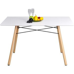 TABLE DE CUISINE  Table Salle à Manger Style Scandinave Table de Cui
