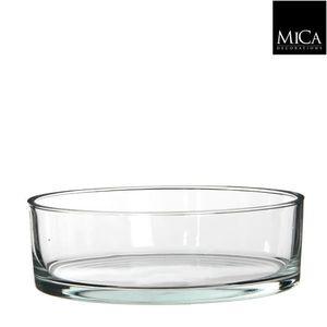 VASE - SOLIFLORE Vase Coupe Ronde en Verre 25 cm
