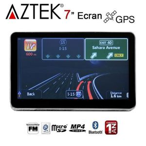 GPS AUTO AZTEK® GPS AUTO 7 Pouces 8GO Bluetooth Main-Libre