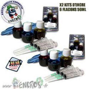 CARTOUCHE IMPRIMANTE RECHARGE ENCRE- Pack X2 kit Encre Couleur HP49