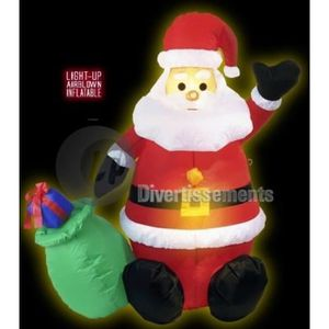 Pere noel gonflable achat vente pere noel gonflable for Pere noel lumineux pour exterieur