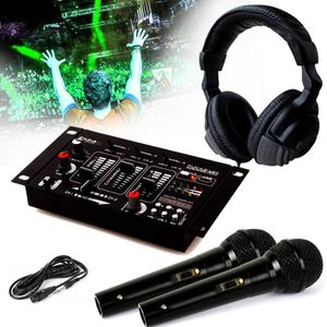 TABLE DE MIXAGE Casque DJ Sono + table de mixage DJ21-USB-MKII IBI