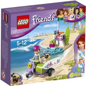 ASSEMBLAGE CONSTRUCTION LEGO® Friends 41306 Le Scooter de Plage de Mia