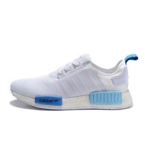 Adidas NMD Baskets Chaussures De Sport Blanc Bleu blanc