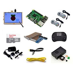 CARTE MÈRE Raspberry Pi Retro Gamepads Kit with 5 inch Monito