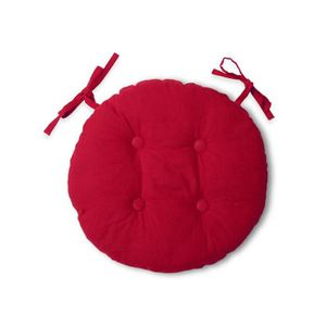 Coussin rond rouge achat vente coussin rond rouge pas for Coussin rond de chaise