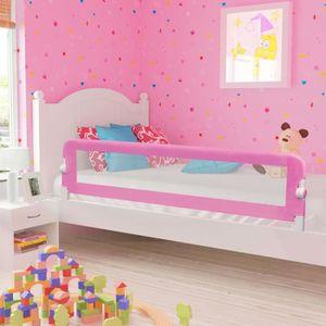 BARRIÈRE DE LIT BÉBÉ vidaXL Barrière de sécurité de lit enfant Rose 180