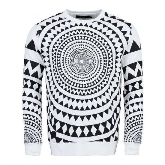 Tee Shirt Unkut Circle Noir Blanc/Noir -