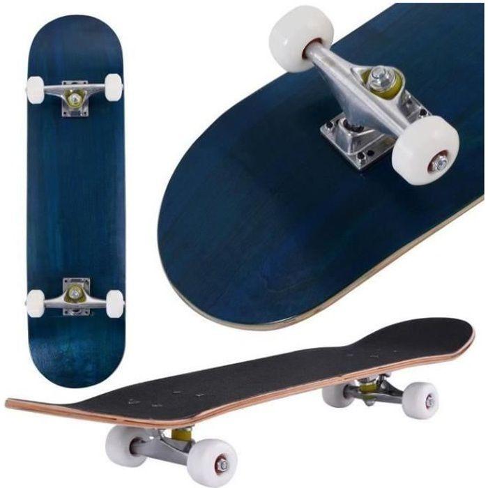 YINQ® Skateboard complet en bois d'érable - Skateboard silencieux en érable à quatre roues
