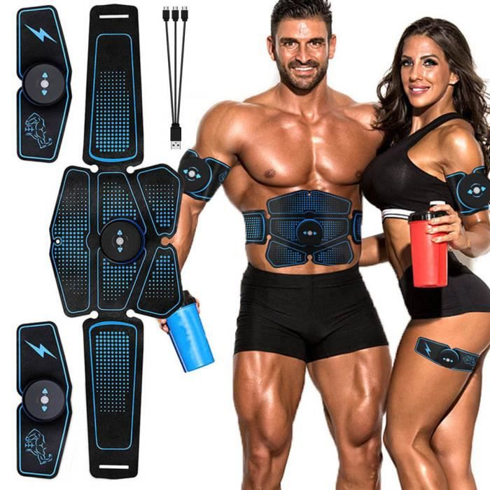 Entraîneur de stimulation musculaire abdominale Équipement d'exercice de remise en forme Stimulation musculaire électrique