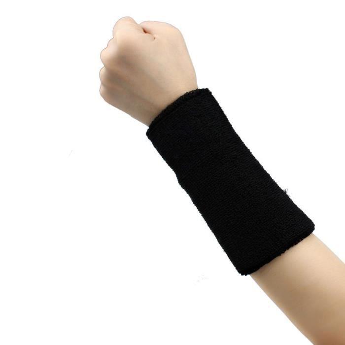 KIT PROTECTION Bande de sueur Bandeau de poignet Bande de bras Basketball Tennis Gym Yoga BK ke015