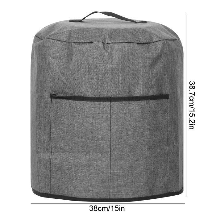 WIPES Housse de protection ronde pour autocuiseur avec accessoires pour appareils de cuisine de poche (Noir 38x38,7 cm)