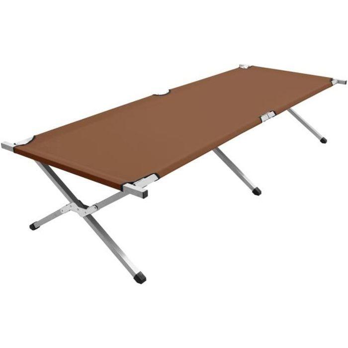 Haute qualité - Lit de Camp Pliable confortable- Lit Pliant de Voyage Léger Solide et Durable pour Adultes et Enfants 210x80x4💥9626