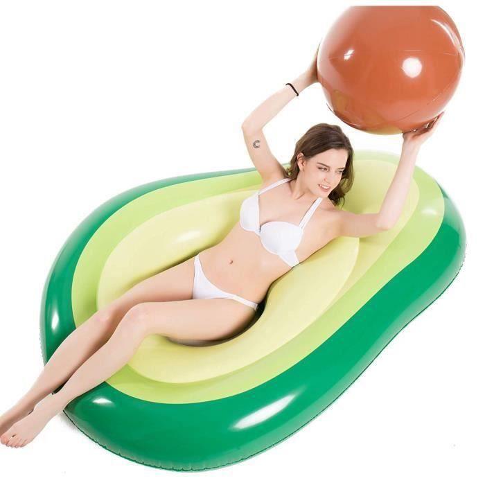 Bouée Gonflable Piscine bouée matelas avocat avec ballon amovible pour adulte/enfant