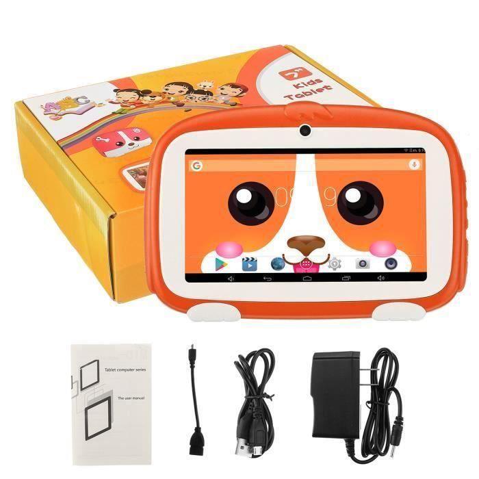 TEMPSA 7 pouces Tablet PC Enfants Tablette écran HD 1.5GHz + 8G Wifi Jouets éducatifs PC de Comprimé d'enfants Orange