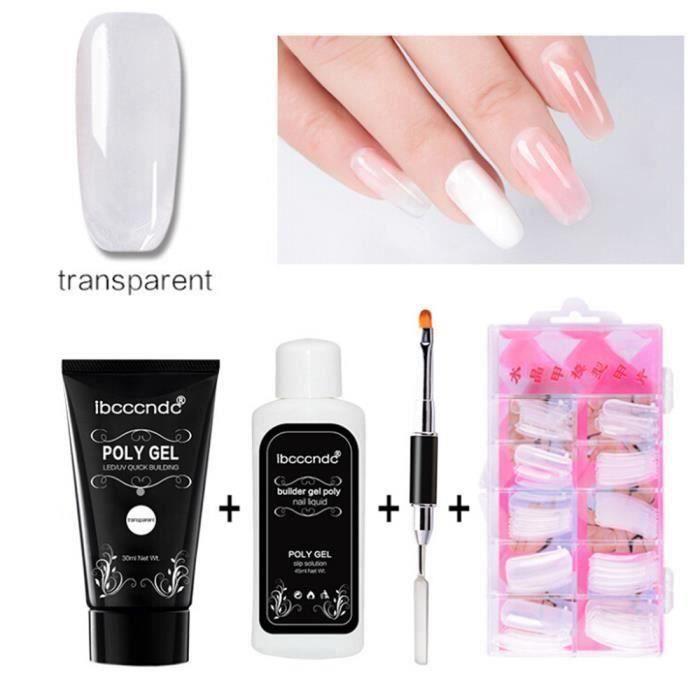 SA Poly Gel Nails durable Faux liquide Double-end Brosse à ongles Pusher Dead Set peau @coniada10313 - SABCK0119A0519