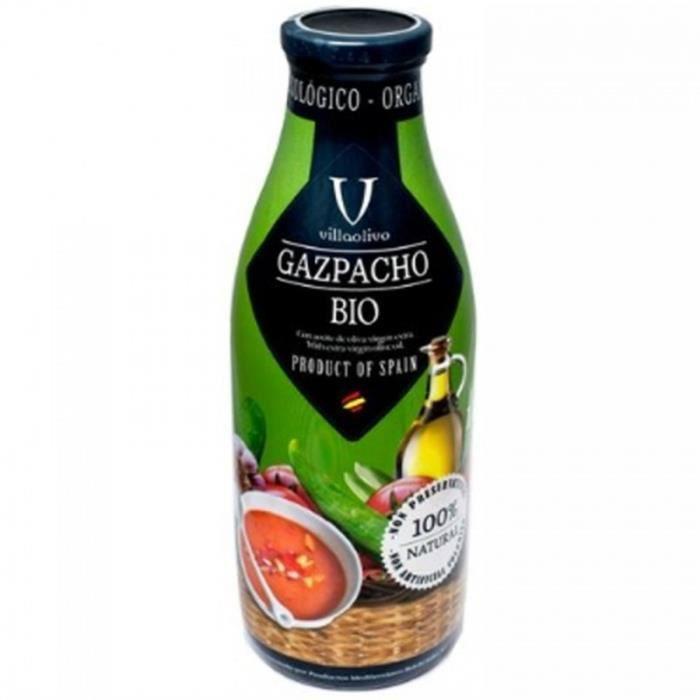 Soupe Gaspacho tomates BIO - Villaolivo - bouteille 1l