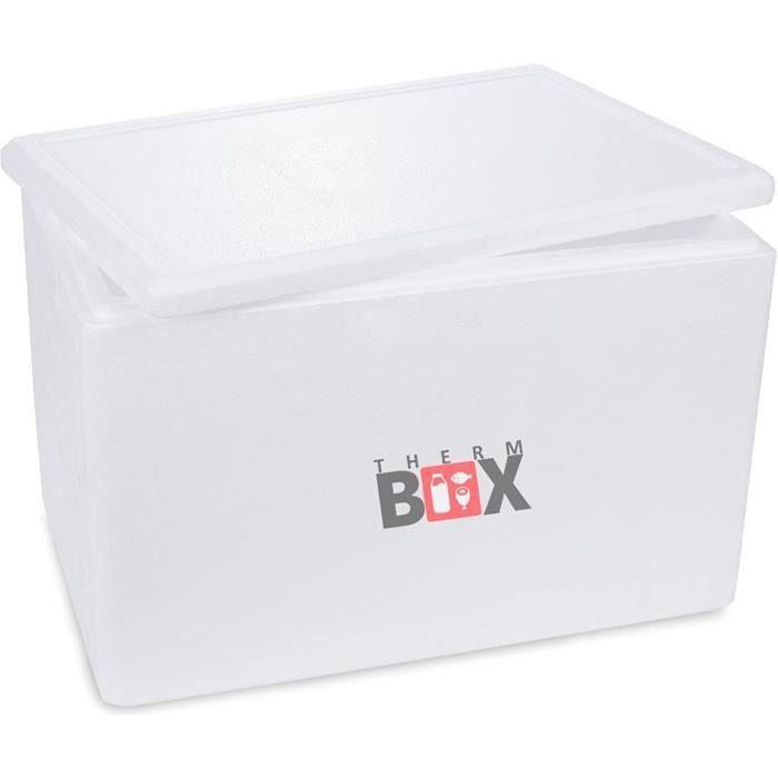 SAC ISOTHERME ThermBox Boicircte de conservation professionnelle en polystyregravene Taille XXL 595 x 395 x 400 cm Paroi 30172