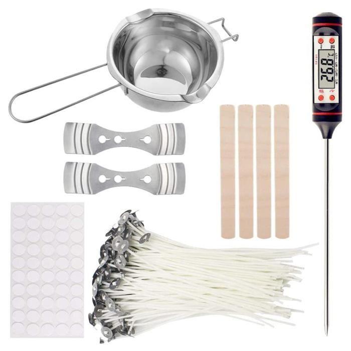 Bougie,Matériel de fabrication de bougies parfumées bricolage les outils comprennent 1 Pot de fusion de cire 2 - Type 1 set