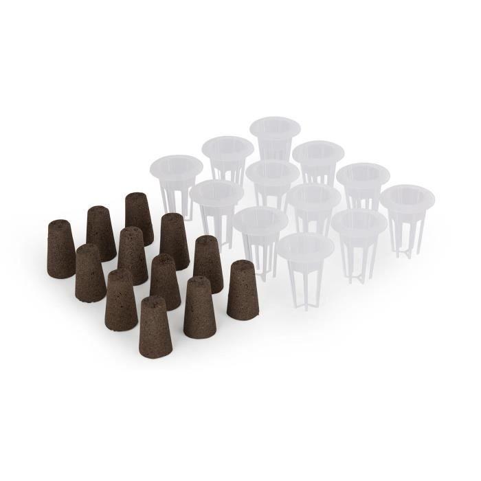 Blumfeldt Urban Bamboo reFresh Kit de plantation de rechange pour système hydroponique - 24 pièces