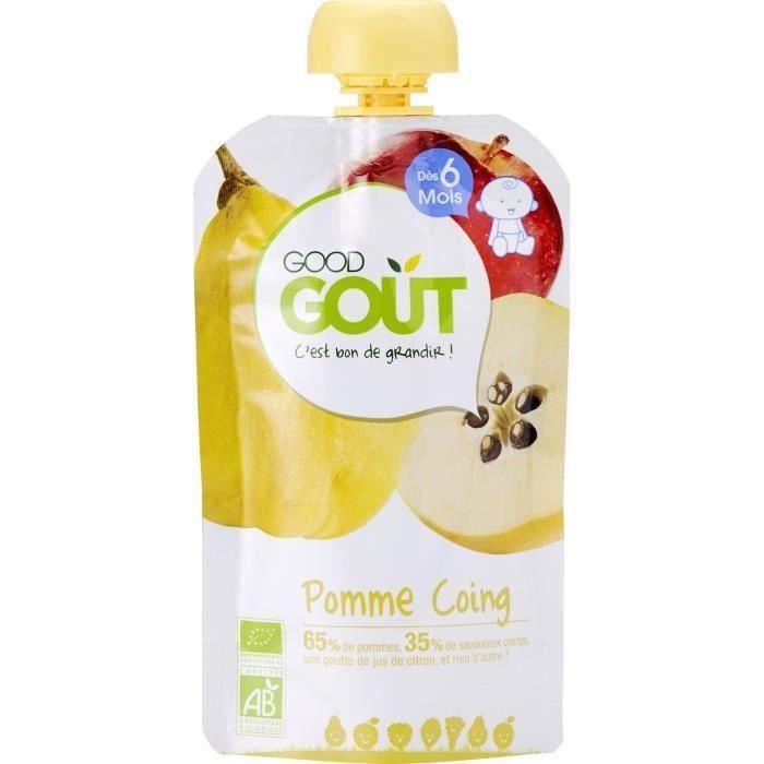 [LOT DE 3] GOOD GOUT Gourde purée de fruit - Pomme coing - Bio 120g