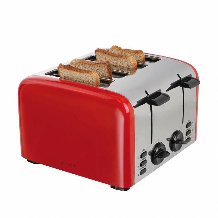 DOMOCLIP DOD153 Grille-pain électrique rétro - Rouge