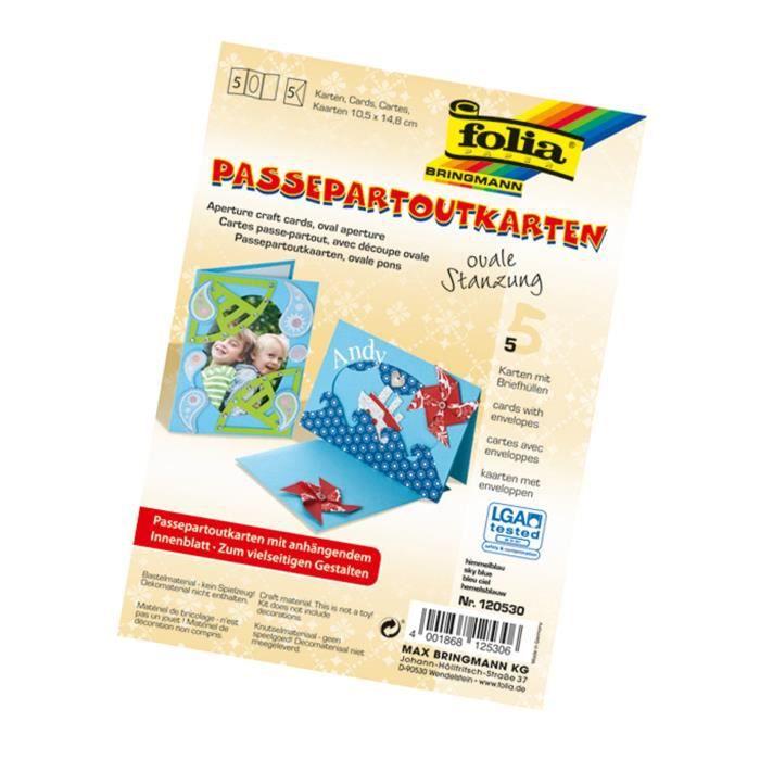 Folia - Passe-Partout avec Perforation Ovale - 120530