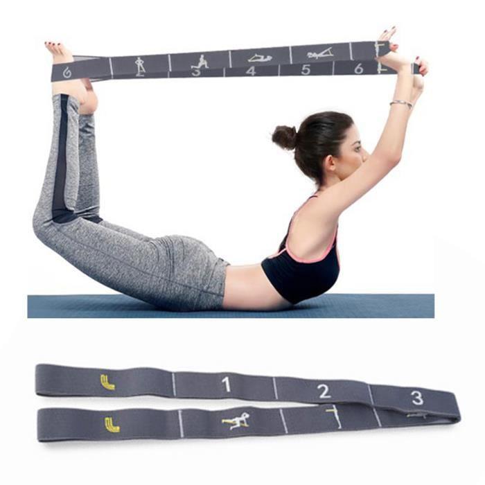 élastique de gym fitness yoga bande de résistance sports intérieur musculation épaules dos femmes danse latine numérique top qualité