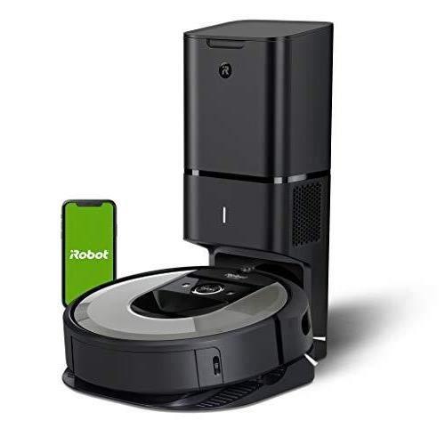 iRobot - Aspirateur Robot - Roomba i7556 Connecté avec Système d Autovidage et Aspiration Surpuissante - Brosses en Caoutchouc