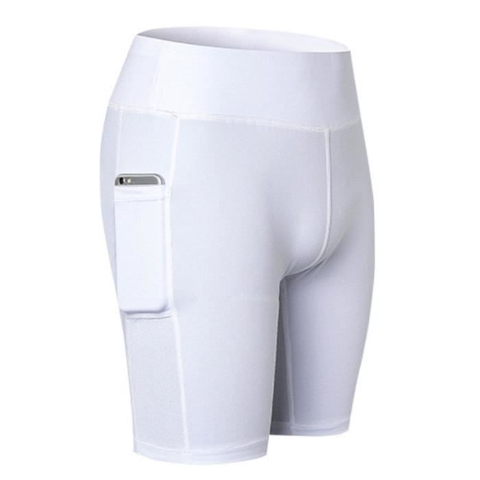 Short Running Athletique Femme Jogging Yoga Fitness Taille Haute