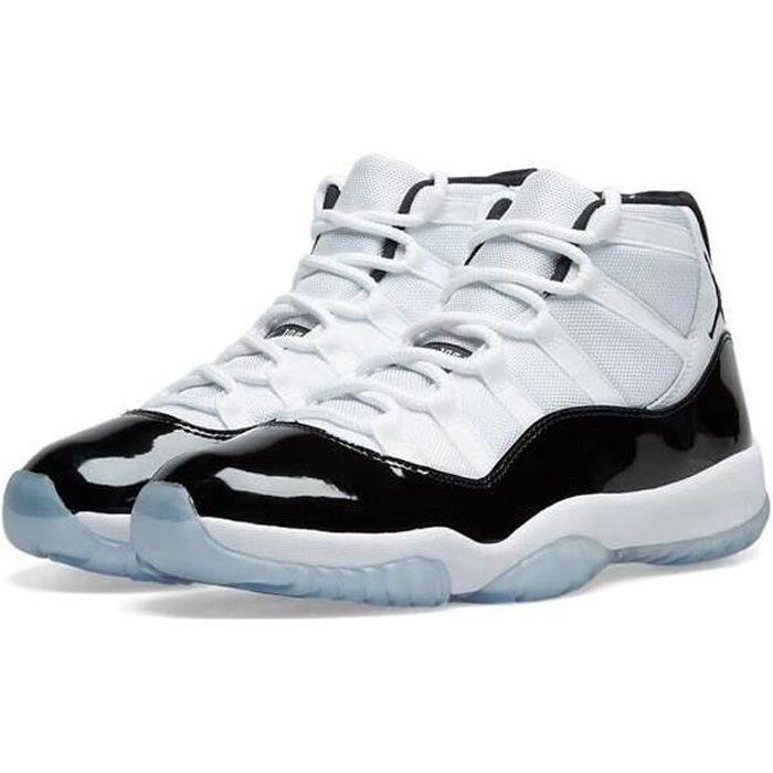 Nike Air Jordan 11 XI Concorde 45 Retro Chaussures de Basket Pas Cher AJ 11 High pour Homme Femme Noir et Blanc